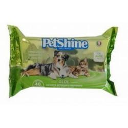 PetShine Salviette Aloe 40 pz