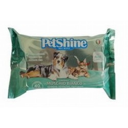 PetShine Salviette Muschio Bianco 40 pz